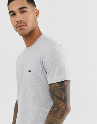 Lacoste t-shirt with croc in gray