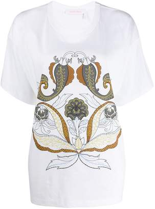 See by Chloe giant paisley print T-shirt