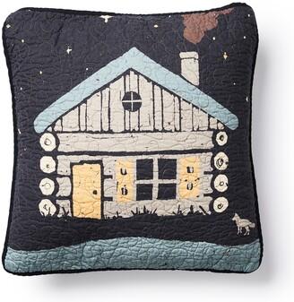 Donna Sharp Moonlit Cabin Square Decorative Pillow