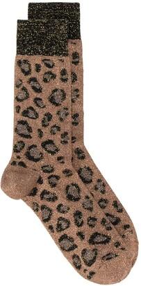 Versace Leopard Ankle Socks