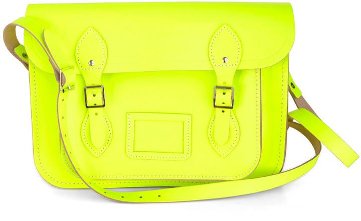 "The Cambridge Satchel Company Cambridge Satchel Upwardly Mobile Satchel in Neon Yellow - 13"""
