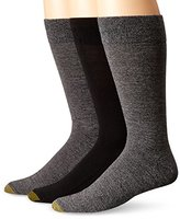 Gold Toe Men's Flat Knit Extended Size Crew Socks (Pack of 3)