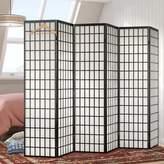 "World Menagerie 70"" x 102"" Tejas Shoji 6 Panel Room Divider"