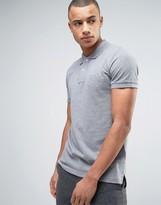 Esprit Slim Fit Basic Pique Polo Shirt in Gray Melange