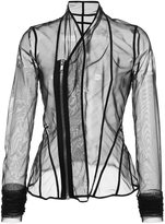Rick Owens Lilies sheer fitted jacket