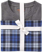 Joe Fresh Men's Plaid Flannel Sleep Set, Ash Blue (Size XXL)