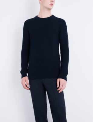 Sandro Textured cotton and wool-blend jumper