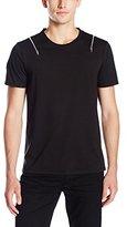 GUESS Men's Ferretti Zipper T-Shirt