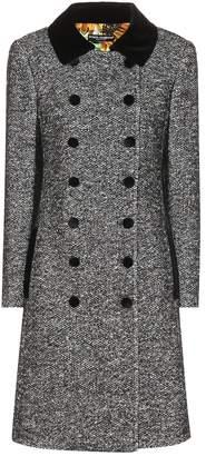 Dolce & Gabbana Velvet-trimmed tweed coat