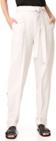 Helmut Lang Loose Fitted Tie Front Trousers