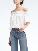 Banana Republic Easy Care Off-the-Shoulder Top
