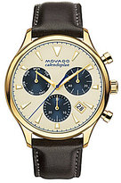 Movado Heritage Series Calendoplan Leather Strap Stainless Steel Luminescent Chronograph Watch