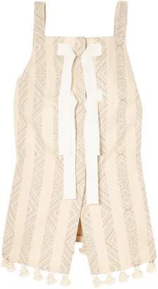 Altuzarra Archie Tasseled Cotton-blend Jacquard Top