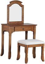 Oakdale 2-Piece Vanity Set in Warm Oak