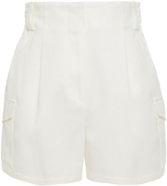 Emilio Pucci Shirred Cotton-blend Twill Shorts