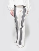 Striped Flares in Grey/White