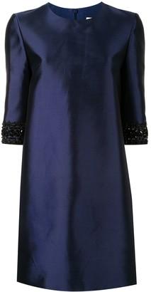 Carolina Herrera Crystal-Embellished Sleeves Dress