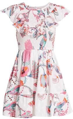 Banjanan Ilona Bird & Floral Mini Dress