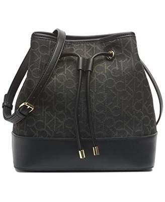 Calvin Klein Gabrianna Jacquard Bucket Shoulder Bag