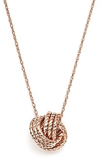 Bloomingdale's 14K Rose Gold Twisted Love Knot Necklace, 18 - 100% Exclusive