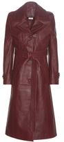Vetements Leather Trench Coat