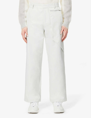 Pieces Uniques Straight-leg high-rise shell trousers