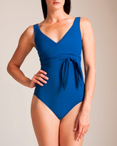 Karla Colletto Wrapping Surplice U-Wire Swimsuit