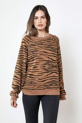 Sale OVERSIZED SWEATSHIRT Brown Zebra