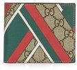 gucci gg chevron canvas bifold wallet redgreen