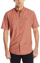 G.H. Bass Men's Short Sleeve Fancy Explorer Mini Gingham Shirt