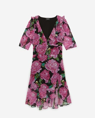 The Kooples Short frilly dress with floral print