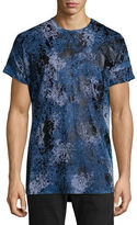 Robin's Jeans Gold Paint-Splatter Printed Short-Sleeve T-Shirt
