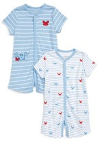 Little Me Infant Boy's Crab Set Of 2 Rompers
