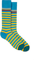 Paul Smith Men's Striped Cotton-Blend Mid-Calf Socks