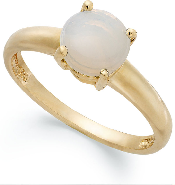 Townsend Victoria 18k Gold over Sterling Silver Ring, Opal Accent October Birthstone Ring