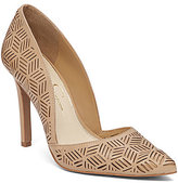 Jessica Simpson Charie Cutout Leather Slip-On Pumps