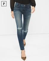 White House Black Market Petite Distressed Skinny Jeans