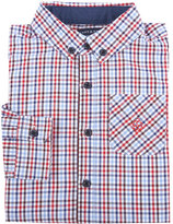 Andy & Evan Long-Sleeve Check Poplin Shirt, Red, Size 2-7