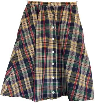 Ralph Lauren Blue Cotton Skirt for Women Vintage