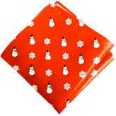 Sunrise Outlet Men's Holiday Snowman Pocket Square