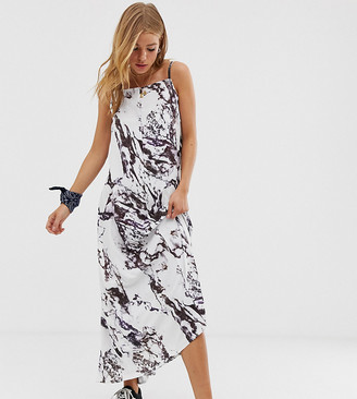 Another Reason backless maxi dress in marble print-Multi