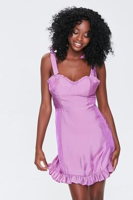 Forever 21 Sheeny Self-Tie Mini Dress