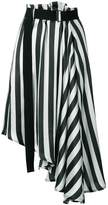Ann Demeulemeester striped asymmetric skirt