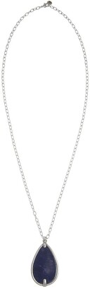 The Sak Lapis Stone Long Teardrop Pendant Necklace