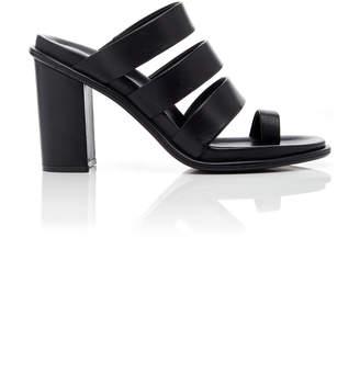 Marina Moscone Leather Mules Size: 36