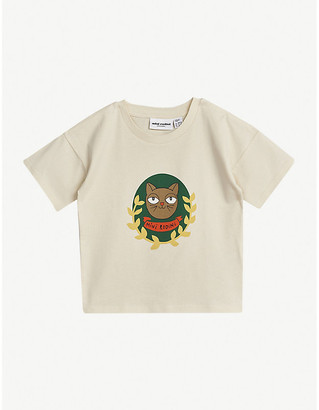 Mini Rodini Cat-print organic cotton T-shirt 4-11 years