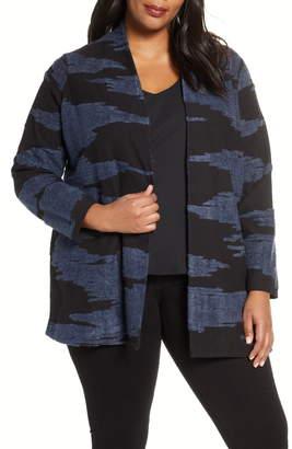 Nic+Zoe Big Sky Cotton Blend Sweater Jacket