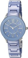 Anne Klein Women's AK/2389LBSV Silver-Tone and Light Blue Ceramic Bracelet Watch