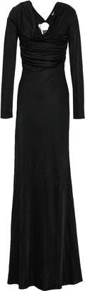 Roberto Cavalli Embellished Cutout Jersey Maxi Dress