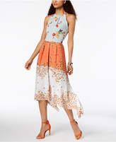 Laundry by Shelli Segal Mixed-Print Midi Dress